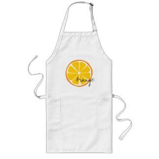 Sommer-Zitrusfrucht-Orange Arpon Lange Schürze