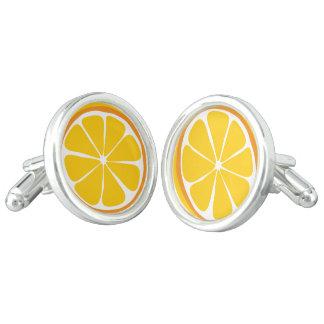 Sommer-Zitrusfrucht-Orangen-Manschettenknöpfe Manschetten Knöpfe