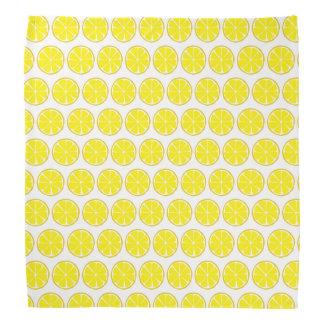 Sommer-Zitrusfrucht-Zitronen-Bandanna Halstuch
