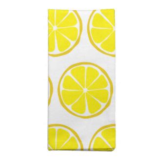 Sommer-Zitrusfrucht-Zitronen-Stoff-Servietten (Set Serviette