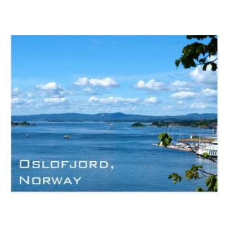 Sommeransicht von Oslofjord von Oslo, Norwegen Postkarte