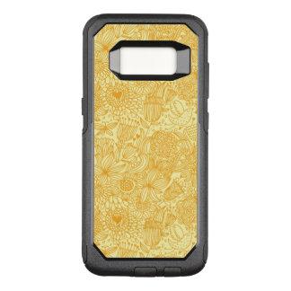 Sommerblumenmuster in den warmen Farben OtterBox Commuter Samsung Galaxy S8 Hülle