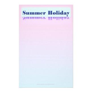 Sommerferien-Schreibpapier Personalisiertes Druckpapier