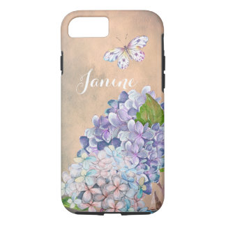 SommerFlieder-Blaue Hydrangea-Traumblüte iPhone 8/7 Hülle