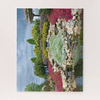 Sommergarten mit Wasserfällen Puzzle