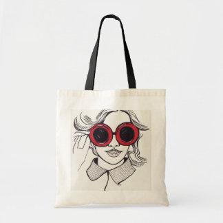 Sommermädchenillustrations-Käufertasche Tasche