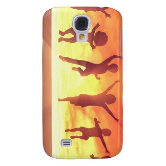 Sommerpause-Schulferien mit den feiernden Kindern Galaxy S4 Hülle