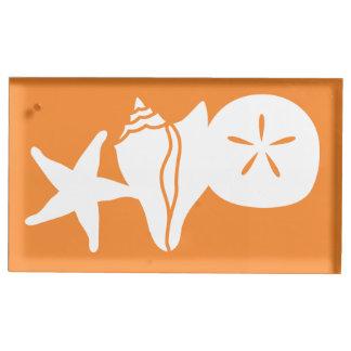SommerSeashells im orange Tabellen-Karten-Stand