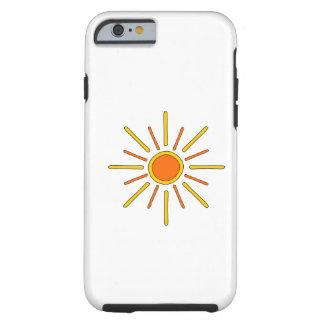 Sommersonne. Gelb und Orange Tough iPhone 6 Hülle