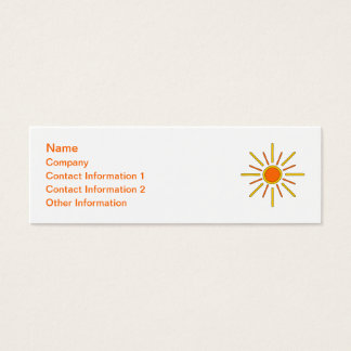 Sommersonne. Gelb und Orange Mini Visitenkarte