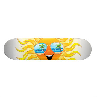 Sommersun-Cartoon mit SonnenbrillenSkateboards Personalisierte Decks