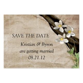 Sommerzeit, die Save the Date Wedding ist Mini-Visitenkarten