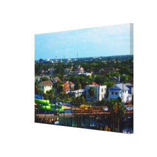 Sommerzeit in tropischem Daytona Beach Florida Gespannter Galeriedruck
