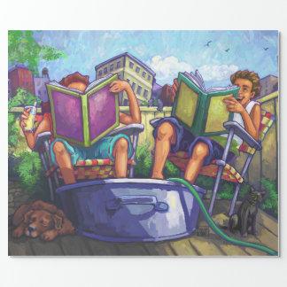 Sommerzeit-Lesung Einpackpapier
