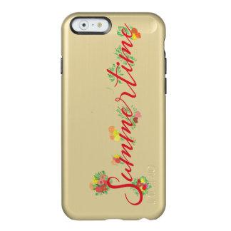 Sommerzeit mit Blumen - Feather® Glanz-goldener Incipio Feather® Shine iPhone 6 Hülle