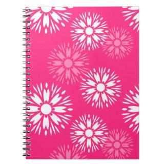 Sommerzeit-rosa Notizbuch Spiral Notizblock