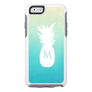 Sommerzeit-tropisches Ananas-Aquarell-Monogramm OtterBox iPhone 6/6s Hülle
