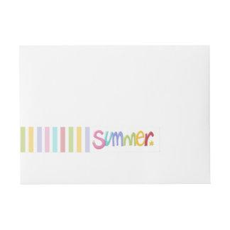 Sommerzeit-Verpackung um Adressen-Etiketten Rundum-Adressaufkleber