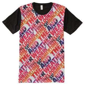 Sommerzeit-Wetter Lookin Geldstrafe T-Shirt Mit Komplett Bedruckbarer Vorderseite