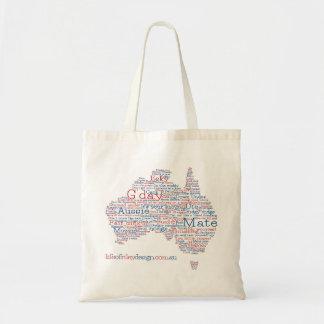 Sonderausgabe-australische Jargon-Tasche Tragetasche