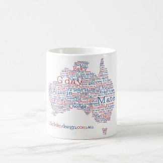 Sonderausgabe-australische Jargon-Tasse Kaffeetasse