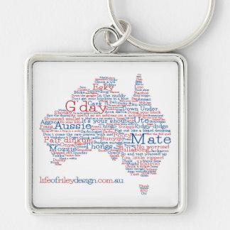 Sonderausgabe-australischer Jargon-Schlüsselring Schlüsselanhänger