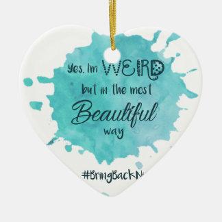 sonderbar aber schön mit hashtag 3 keramik ornament