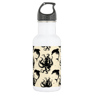 Sonderbare Kraken und Wasser-Flasche der Delphin-| Edelstahlflasche
