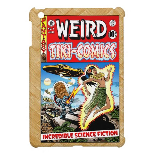 Sonderbare Tiki Comicen Hülle Fürs iPad Mini