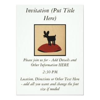 Sonderbarer lustiger schauender Hund - bunte 16,5 X 22,2 Cm Einladungskarte