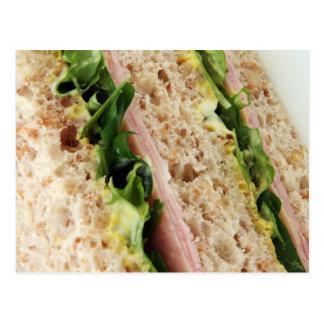 Sonderbarer Sandwich-Druck - Brot und Kopfsalat Postkarte