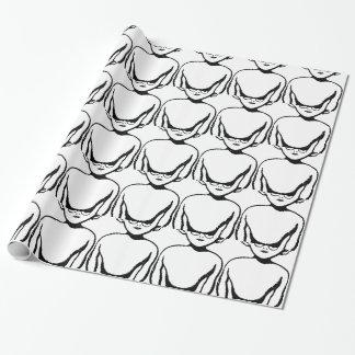 Sonderbares alien geschenkpapier