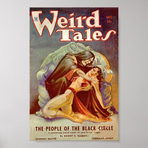 Sonderbares Geschichten-Comic-Plakat September3