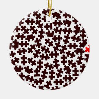 Sonderbares heraus rundes keramik ornament