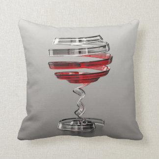 Sonderbares Wein-Glas-Wurfs-Kissen Kissen