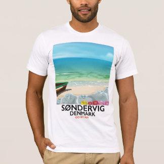 Søndervig Dänemark Strand-Reiseplakat T-Shirt