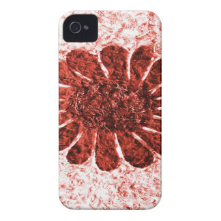 Sonne-Blume in der roten Farbe iPhone 4 Cover