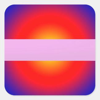 SONNE Glanz-Farbstreifen addieren TEXT-GRUSS-NAMEN Quadratischer Aufkleber