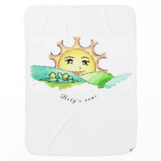 Sonne Gudrun - Kuscheldecke Babydecke