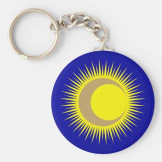 Sonne Mond sun moon Schlüsselanhänger