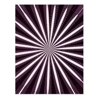 SONNE Schein künstlerisches Chakra Rad-Kreisrunde Postkarten