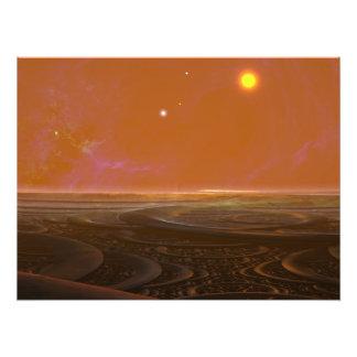 Sonne-Set Fotodruck