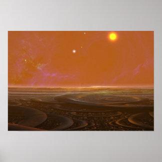 Sonne-Set Poster