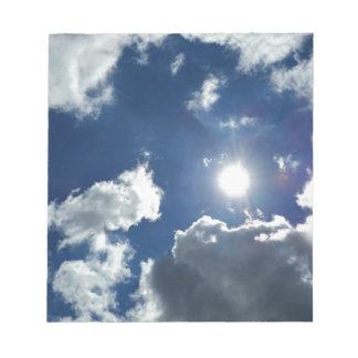 Sonne und Wolken Notizblock
