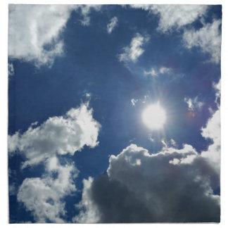 Sonne und Wolken Stoffserviette