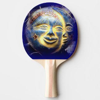 Sonnegesichts-Mondgesichts-Klingeln pong Paddel Tischtennis Schläger