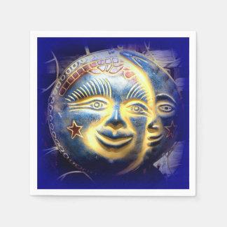 Sonnegesichts-Mondgesichts-Papierservietten Serviette