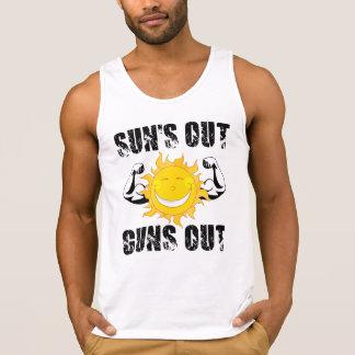 Sonnen heraus schießt heraus Sommerstrand Tank Top