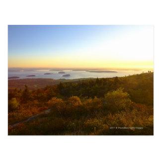 Sonnenaufgang an Cadillac-Berg mit Wanderern Postkarte