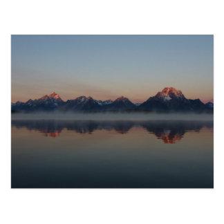Sonnenaufgang an Jackson-Verdammung großartigem Postkarte